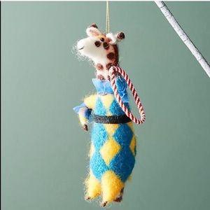 Anthropologie Giraffe Circus Christmas Ornament